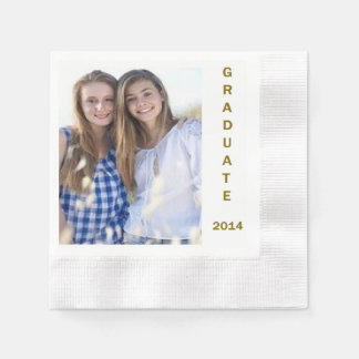 Paper napkins for graduation party