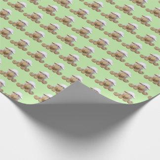 Paper of baby green ewe of crochet tones pie