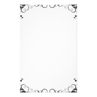 """Paper of letter """"black and white Garden """" Stationery"""