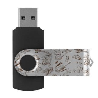 Paper pattern USB flash drive
