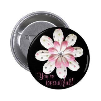 Paper Petals Pinback Button