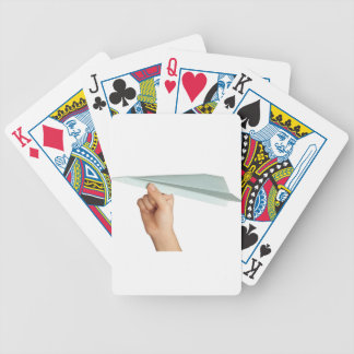 Paper plane bicycle playing cards