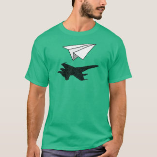Paper Plane Fighter Jet Shadow T-Shirt