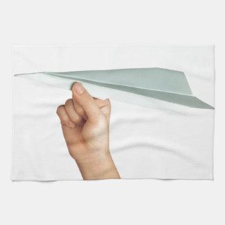Paper plane kitchen towel