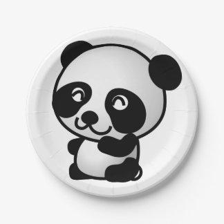 Paper Plane. Panda. Paper Plate