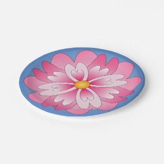 Paper plate bloom