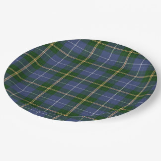 Paper plate   blue Nova Scotia Tartan plaid