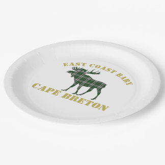 Paper plate Cape Breton East Coast Baby moose 9 Inch Paper Plate
