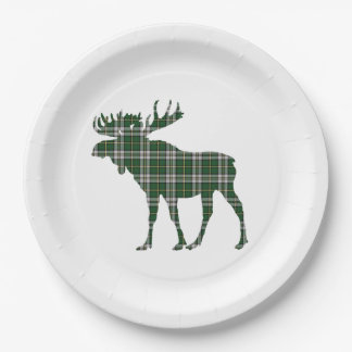 Paper plate  Cape Breton tartan moose