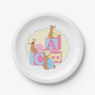 """Paper Plate > """"Cry Baby"""" Snails 7 Inch Paper Plate"""
