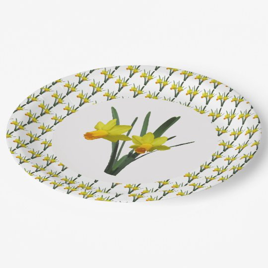 Paper Plate - Daffodils