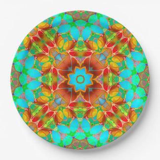 Paper Plate Floral Fractal Art G410