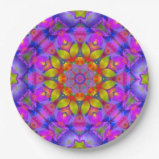 Paper Plate Floral Fractal Art G445