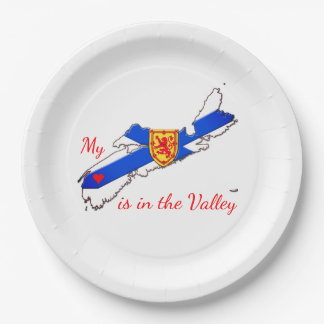 Paper plate My Heart is in the valley Nova Scotia 9 Inch Paper Plate