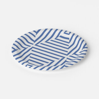 Paper plate of blue Weis
