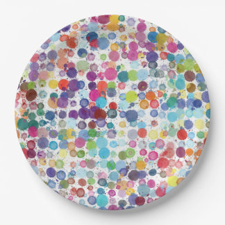 Paper plate Retro art Paint rainbow