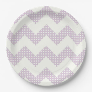 Paper Plates/Chevron and Polka Dots 9 Inch Paper Plate