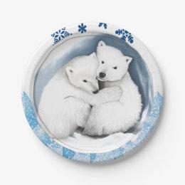 Paper plates Christmas  sc 1 st  Zazzle CA & Holiday Polar Bear Plates | Zazzle.ca