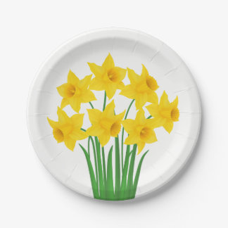 Paper Plates-Daffodils Paper Plate