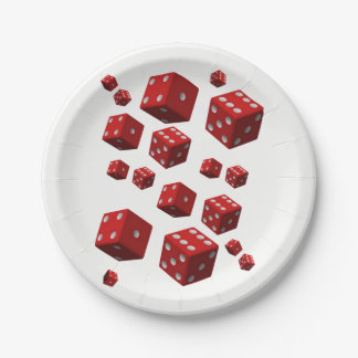 Paper plates Dice