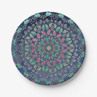 Paper Plates Different Mandala Design