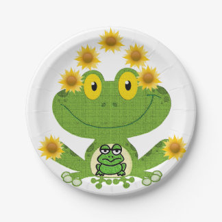 Paper plates Frog