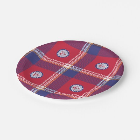 PAPER PLATES  Happy 4th July 7 Inch Paper Plate
