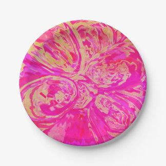 "Paper Plates Jewel Toned Red & Fuchsia ""7"""