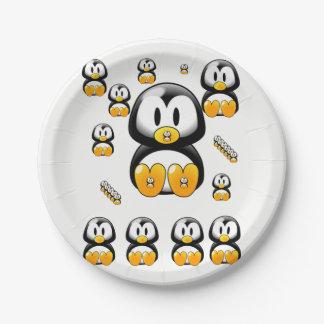 Paper plates Penguins