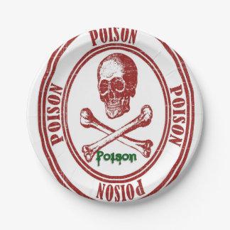 Paper plates Poison