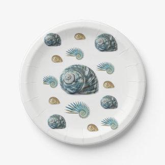 Paper plates Seashells