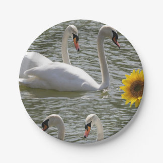 Paper plates Swans