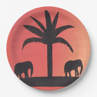 Paper Plates with Elephant Design