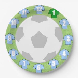 Paper Plates with Light Sky Blue Sport Shirts
