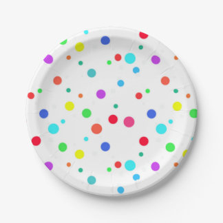 Paper Plates With Lots O' Spots