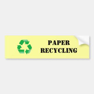 Paper Recycling Sticker Bumper Sticker
