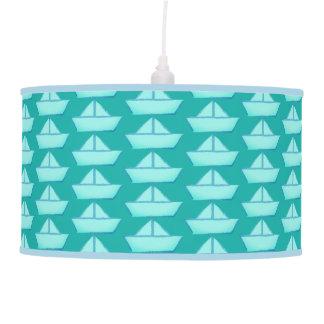 Paper Sailboat Pendant Lamp