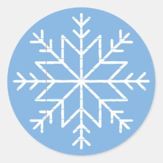 Paper Snowflakes Round Sticker