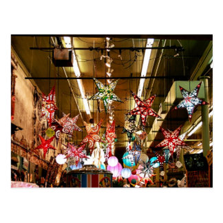 Paper Star Lanterns Postcard