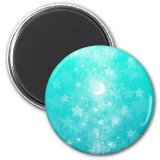 Paper Stars and Moon Fantasy Celestial Art Magnet