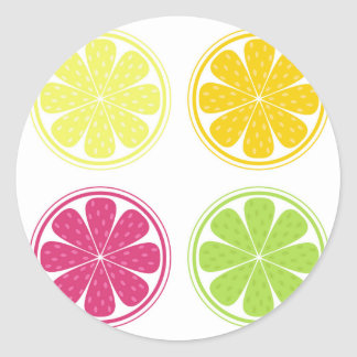 Paper STICKER with citruses