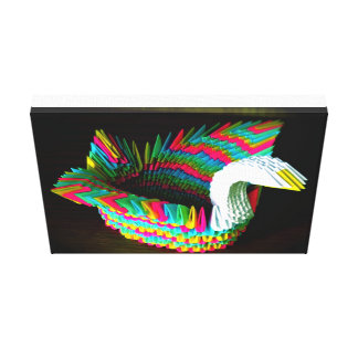 Paper swan Pillow Gallery Wrapped Canvas