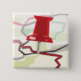 Paper Towns 2 Inch Square Button
