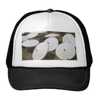 paper umbrella trucker hat