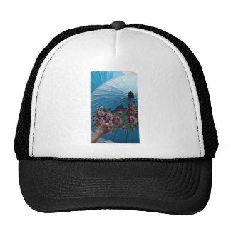 paper umbrella trucker hat