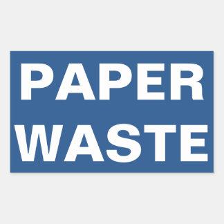 Paper Waste Sign Sticker