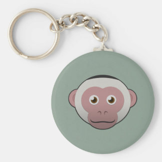 Paper White-Faced Capuchin Keychain
