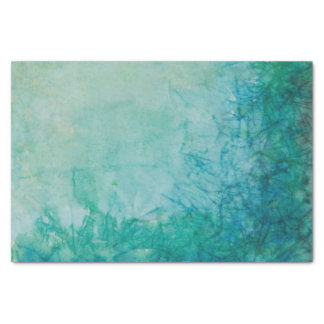 Paper With Blue, Green, And Black Paint Abstract