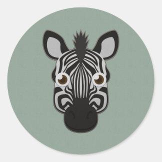 Paper Zebra Classic Round Sticker