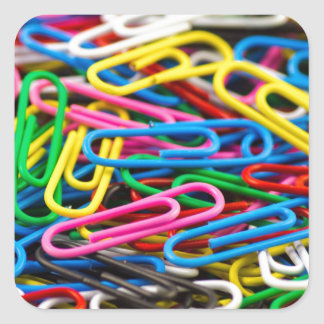Paperclips Square Sticker